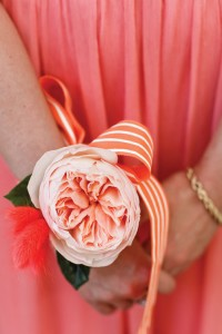 2015-wedding-trends-flowers-bridesmaid-corsage-peony